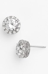 Women's Nordstrom Round 3.48Ct Tw Cubic Zirconia Stud Earrings Round Sterling Platinum