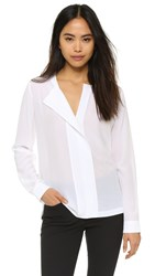 Pure Dkny Shirt With Knit Back White