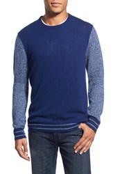 Men's 1901 'Anacortes' Wool And Cashmere Baseball Sweater Blue Estate