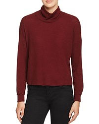 Project Social T Mia Mock Neck Sweater Burgundy