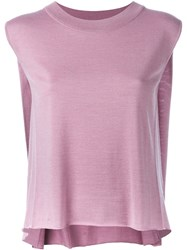 Eleventy Sleeveless Knit Top Pink And Purple