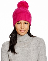 Michael Kors Waffle Stitch Hat With Pom Pom Bloomingdale's Exclusive