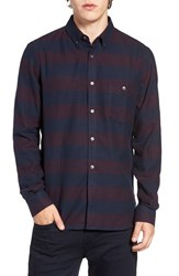 French Connection Men's Trim Fit Stripe Flannel Sport Shirt