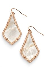 Kendra Scott Women's 'Alex' Drop Earrings Ivory Mop Rose Gold