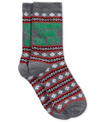 Charter Club Women's What The Elf Socks Only At Macy's Heather Grey