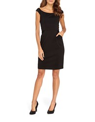 Catherine Malandrino Audrey Cap Sleeved Sheath Dress Noir