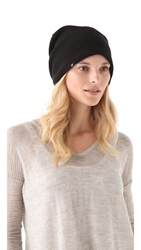Plush Barca Slouchy Hat Black