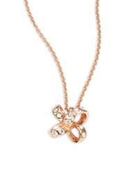 Kate Spade Its A Tie Bow Mini Pendant Necklace Rose Gold