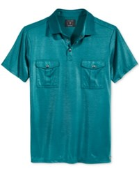 Guess Men's Mason Polo Deep Teal