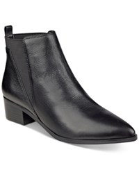 Marc Fisher Ignite Ankle Booties Women's Shoes Black Leather