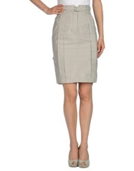 John Richmond Knee Length Skirts Light Grey