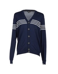 Jeckerson Knitwear Cardigans Men Dark Blue