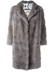 Simonetta Ravizza 'Barc' Fur Coat Grey