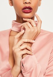 Missguided Gold Diamante Ring Pack