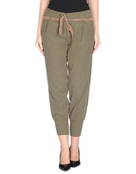 H. Eich Trousers Casual Trousers Women Military Green