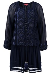 Derhy Gastounet Summer Dress Marine Dark Blue