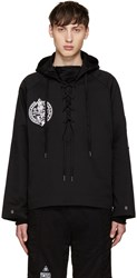 Ktz Black Lace Up Hoodie