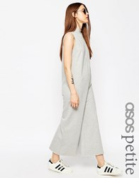 Asos Petite Jumpsuit With High Neck In Sweat Grey