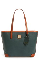 Dooney And Bourke 'Charleston Pebble Grain Collection' Water Resistant Tumbled Leather Shopper Green Hunter