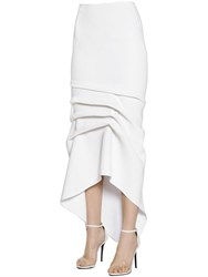 Maticevski Asymmetric Draped Crepe Pencil Skirt