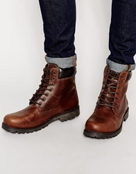 Red Tape Chunky Sole Boots Tan