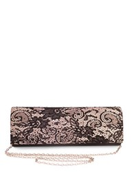 Sasha Lace Satin Clutch Black
