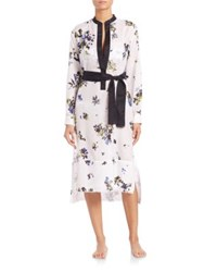 Proenza Schouler Cotton And Silk Voile Shirtdress Coverup White