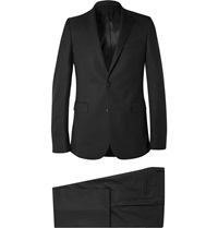 Givenchy Black Slim Fit Stretch Wool Suit