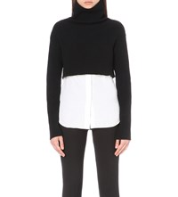 Valentino Turtleneck Wool And Cashmere Blend Jumper Blk