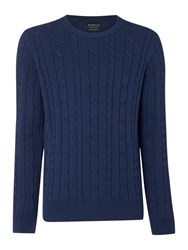 Howick Sanford Cable Crew Jumper Navy