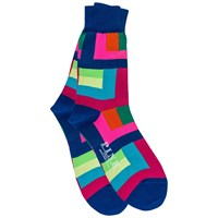 Thomas Pink Holt Colour Block Socks Blue Blue Pink