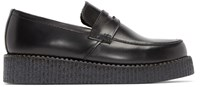 Underground Black Leather Whitworth Loafers