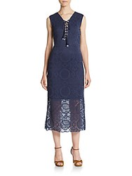 Kas Crochet Maxi Dress Navy