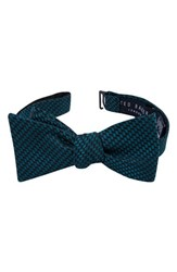 Ted Baker Men's London Woven Silk Bow Tie Teal