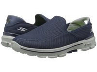 Skechers Performance Go Walk 3 Navy Gray Men's Slip On Shoes Blue