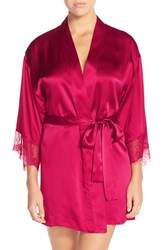 Women's Nordstrom Short Silk Robe Red Cerise