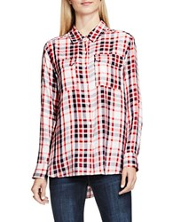 Vince Camuto Long Sleeve Plaid Button Down Shirt Fire Glow