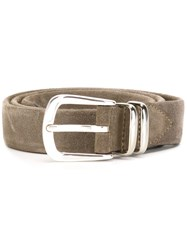Eleventy Buckled Belt Grey