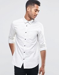 Jack And Jones Shirt With Contrast Buttons White