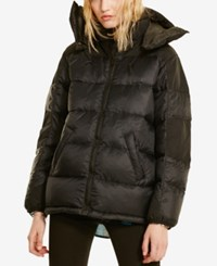 Denim And Supply Ralph Lauren Hooded Down Jacket Polo Black