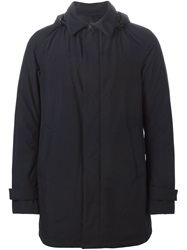 Herno Hooded Coat Black