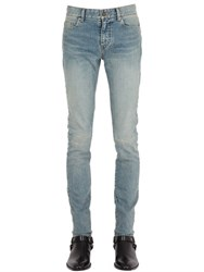 Saint Laurent 15Cm Destroyed Knees Stretch Denim Jeans