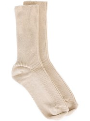 Isabel Marant 'Kodachrome' Socks Nude And Neutrals