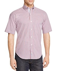 Tailorbyrd Check Classic Fit Short Sleeve Shirt Compare At 89.50 Red