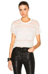 Rag And Bone Jean Vintage Burnout Tee In White