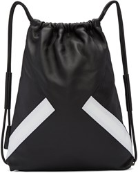 Neil Barrett Black And White Retro Modernist Rucksack