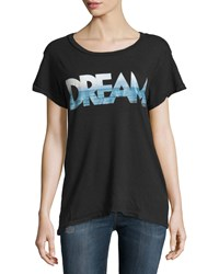 Current Elliott Cotton Vintage Graphic Jersey Tee Noir Dream
