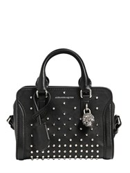 Alexander Mcqueen Mini Padlock Studded Leather Top Handle
