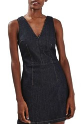 Topshop Women's Denim Fit And Flare Dress
