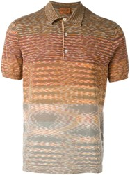 Missoni Striped Polo Shirt Yellow And Orange